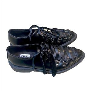 T.U.K pointed lace up creepers